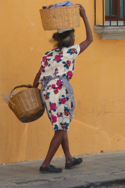 The lady with the baskets, Guatemala