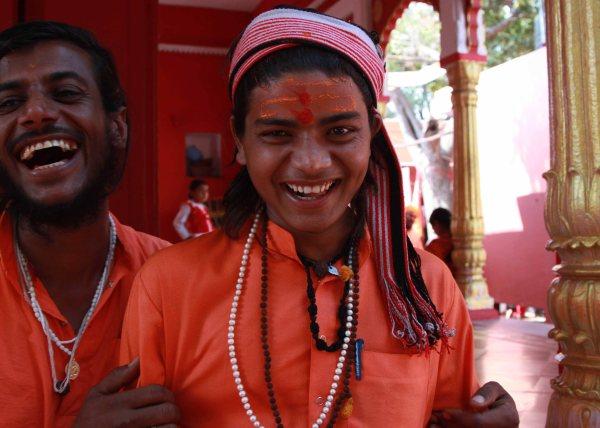 Young sadhus at an ashram